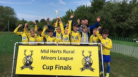 St Albans City Youth U10 Romans won the MHR maroon division cup.