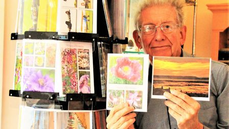 Melbourn's Clive Porter with some of his cards. Picture: Clive Porter