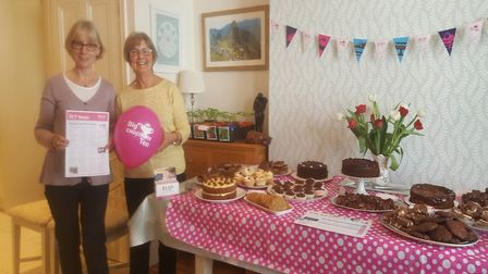 Julia and Sally at the Big Chocolate Tea Party in St Albans