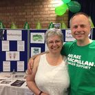 Michelle Dunn and her husband Chris, who has also been fundraising for the charity.
