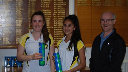 St Albans High School's Megan Carter and Yasmin Knowles won the U16 plate at Harpenden.