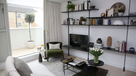 A TV room in Gabriel Square. Picture: Danny Loo