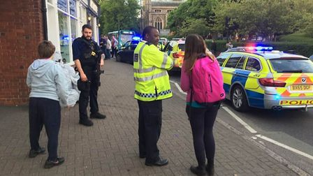 Met Police surrounded a car in St Peter's Street. Picture: Sandy Walkington
