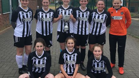 The St Ivo School Under 15 Girls team who won the Cambs Schools' Cup.