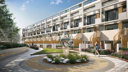 The garden square includes a mix of public and private access lawns