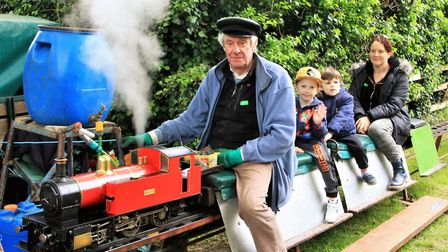 Royston and District Model Engineering Club provided steam rides for the many families attending the