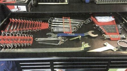 Some of the tools stolen from the industrial unit in Great Gransden.