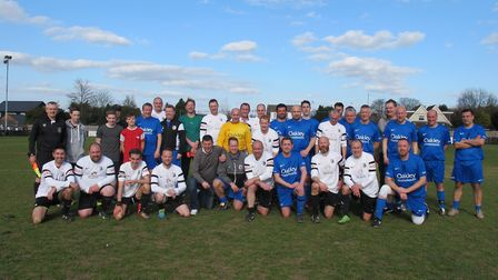The teams of managers at last year's event.