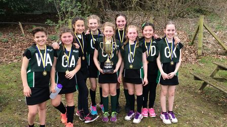 Oakwood Primary School have won the St Albans district netball tournament for the third time in thre