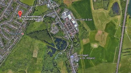 How Wood Primary School is very close to the proposed rail freight site.