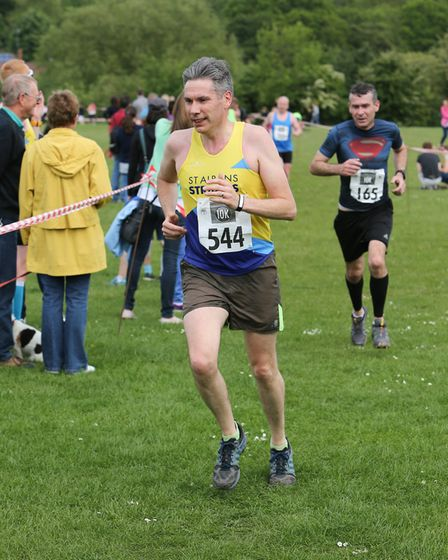 St Albans Striders' Robin Newby at the Wheathampstead 10k. Picture: CHRIS BARR