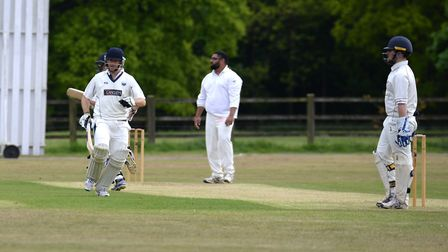 London Colney's Mitch Bradley made 49 before their game with Redbourn II was abandoned. Picture: V