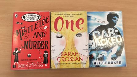The three books on the shortlist.