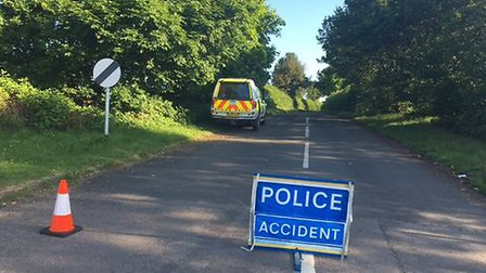 The road closure on Beech Hyde Lane.