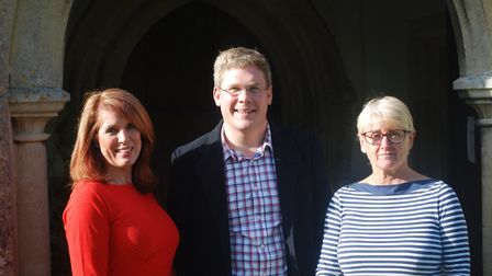 Reed Choir Founder Liz Kershaw, accompanist Paul Harrison and musical director Helen Holliday. Pictu