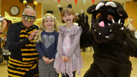 Gruffalo and friends with Freya Wood and Amelie Holme both 6.