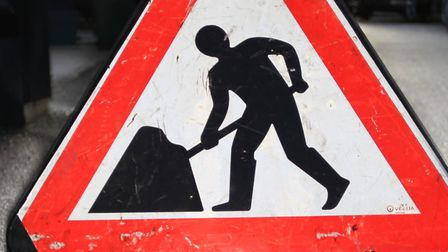 An area of Royston town centre has been closed while Affinity Water carry out pipe replacement work.