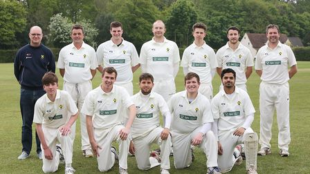 St Albans beat Ickleford 2nds thanks to 61 not out from Jonny Hall ( front row, second from left).