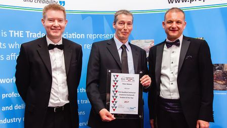 Paul Kent of Stallard Kane, Peter Watson, and Stephen Hodgson, chief executive of the Property Care