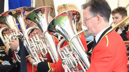 Royston Town Band are regular performers at the May Fayre. Picture: Clive Porter.