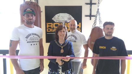 Councillor Debbie Townsend opens Rough Diamonds MMA gym in St Ives