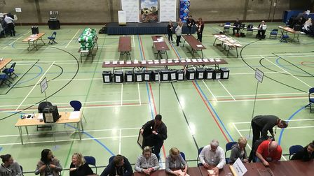 The count for the Cambridgshire County Council election gets under way at One Leisure in St Ives.