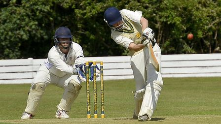 Kimbolton skipper James Biddle, seen here batting in a game last summer. Picture: DUNCAN LAMONT