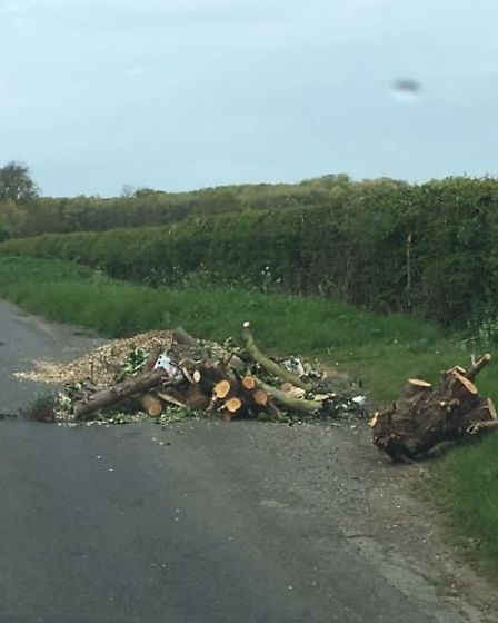 Fly-tipping found by Cllr Jonathan Gray
