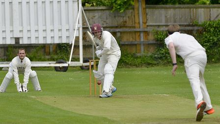 Waresley batsman Alex Scully top-scored in his side's defeat to Ramsey. Picture: DUNCAN LAMONT