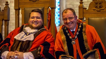 Town mayor, Councillor Philip Pope and deputy mayor, Councillor Tim Drye.