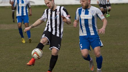 New St Neots Town signing Danny Watson playing for previous club St Ives Town. Pitcure: LOUISE THOMP