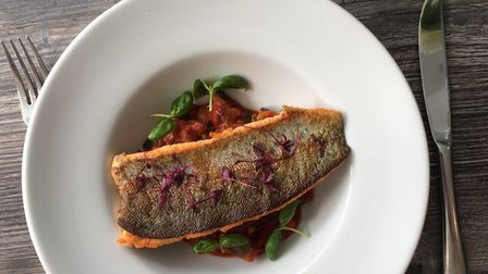 Trout with ratatouille at Bistro Gautier in Harpenden.