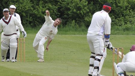 Peter Colebrook was one of five Waresley & Eltisley bowlers to take two wickets.