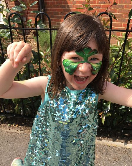 Face painting at Goldsmith Way street party