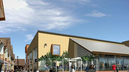 An artist's impression of how Chequers Court will look upon completion.