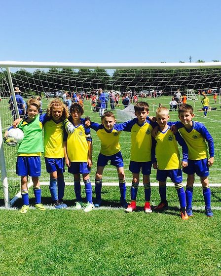 St Albans City Youth U10 Arrows at the Knebworth tournament.