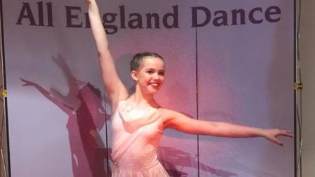 Ella Caloran from Royston has taken top spot in the All England Dance competition regional finals. P