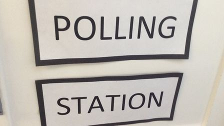 The polling station where pupils voted for their MPs. Photo: London Colney Primary School