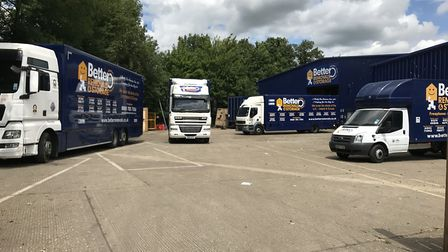 Lorries head off from Better Removals in Flint Cross to deliver massive haul of donation to Grenfell
