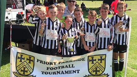 Buckden Vultures Under 10s triumphed in their age group at the Priory Parkside tournament.
