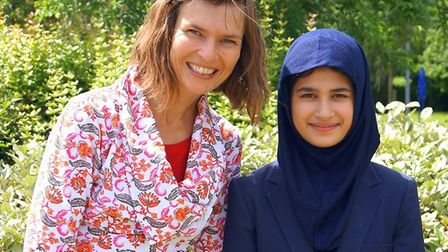 Camilla Chester with competition winner Auj Usman