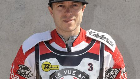 Huntingdon-based speedway rider Kenneth Bjerre. Picture: IAN CHARLES
