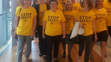 Lib Dem MEPs turn up in stop Brexit t-shirts. Photograph: Antony Hook MEP.