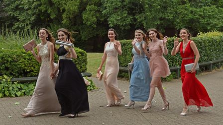 Students arriving for the prom