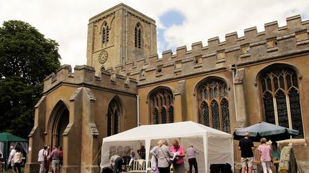The fete was held in the grounds of Meldreth's parish church. Picture: Clive Porter