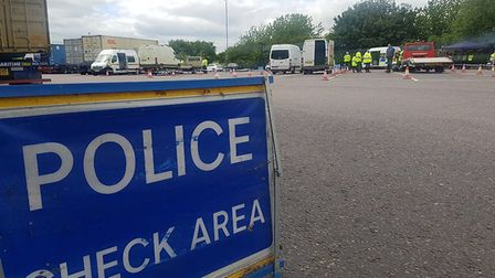 Six force operation to catch drivers committing 'fatal four' stops 40