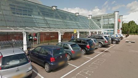 The parent and child bays outside Sainsbury's in Colney Fields where the incident occurred - photo G