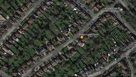 Some of the area in Harpenden which will be affected by parking restrictions - image Google Earth.