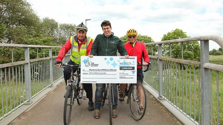Members of St Neots Rangers Sustrans Cycling Group are helping the search for the missing millionair