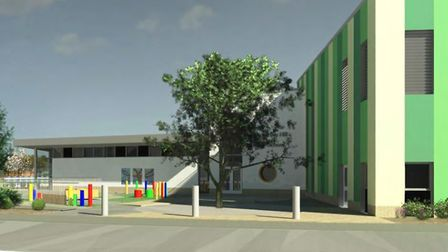 An artist's impression of how the new Wyton School might look.